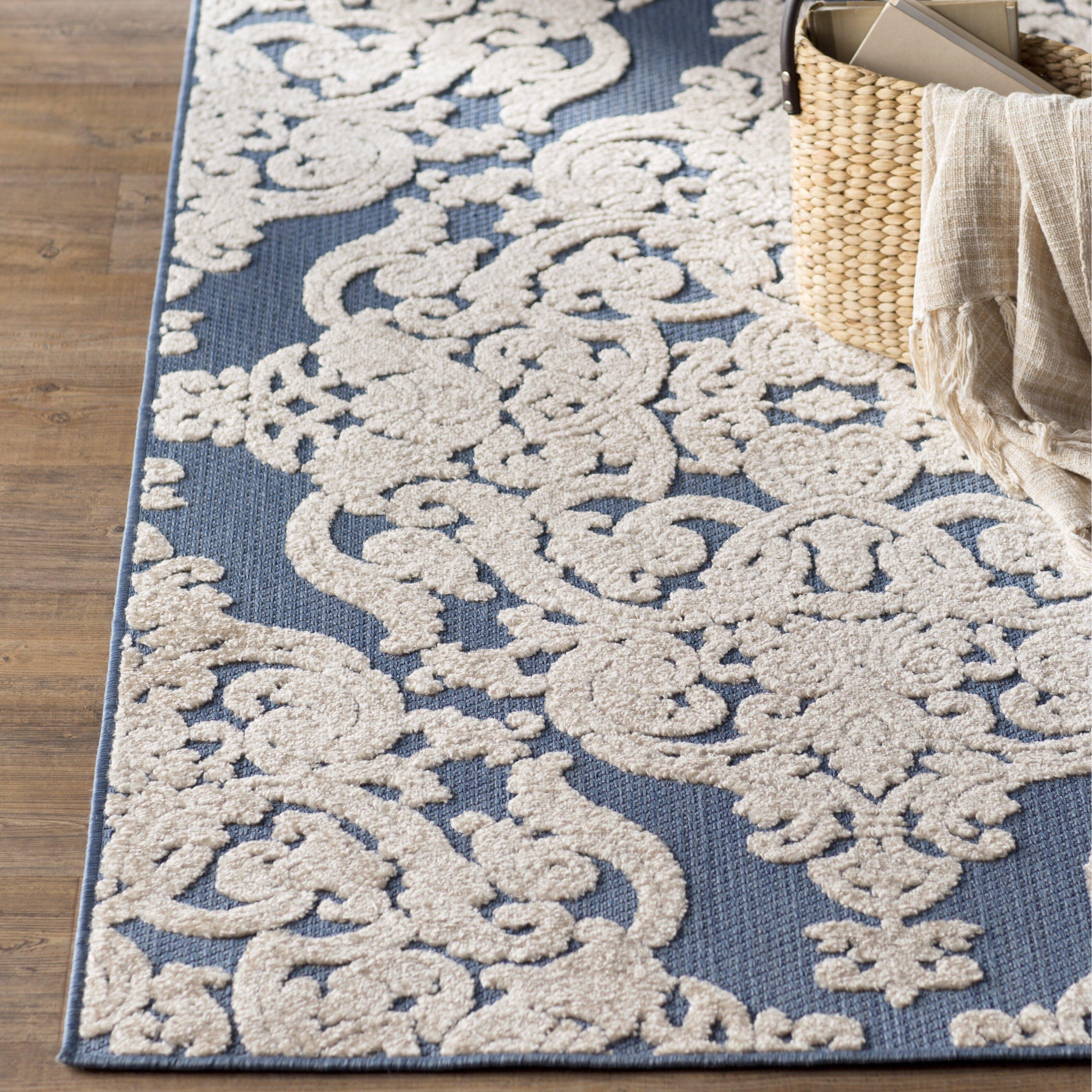 Lark Manor Lievin Blue Indoor Outdoor Area Rug & Reviews