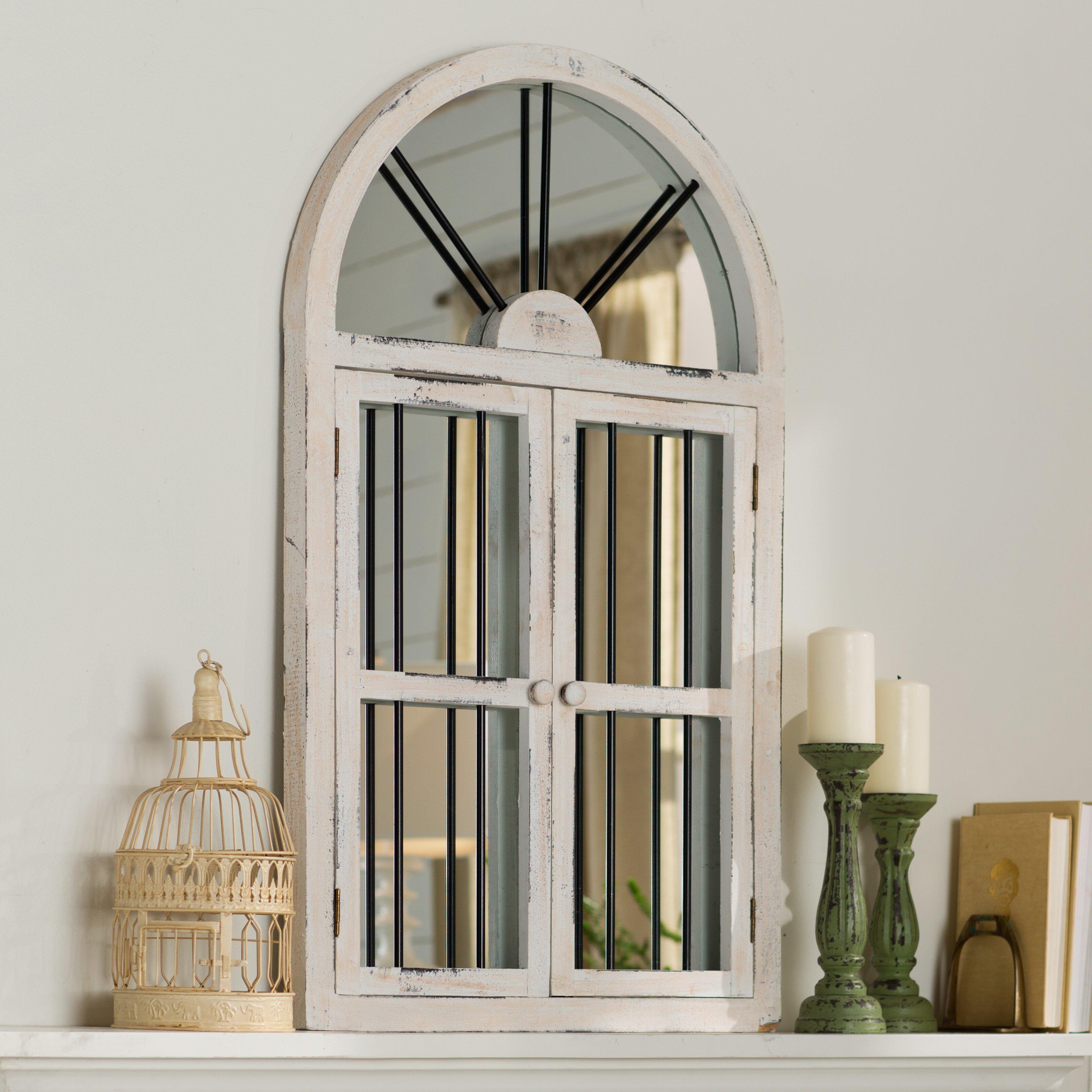 Lark manor lular faux window wall mirror reviews wayfair for Window wall mirror