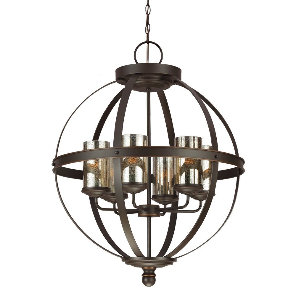 lark manor haute marne 6 light chandelier reviews wayfair. Black Bedroom Furniture Sets. Home Design Ideas