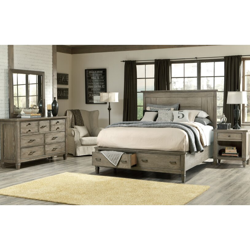 Lark manor armoise panel customizable bedroom set for Bed set queen furniture