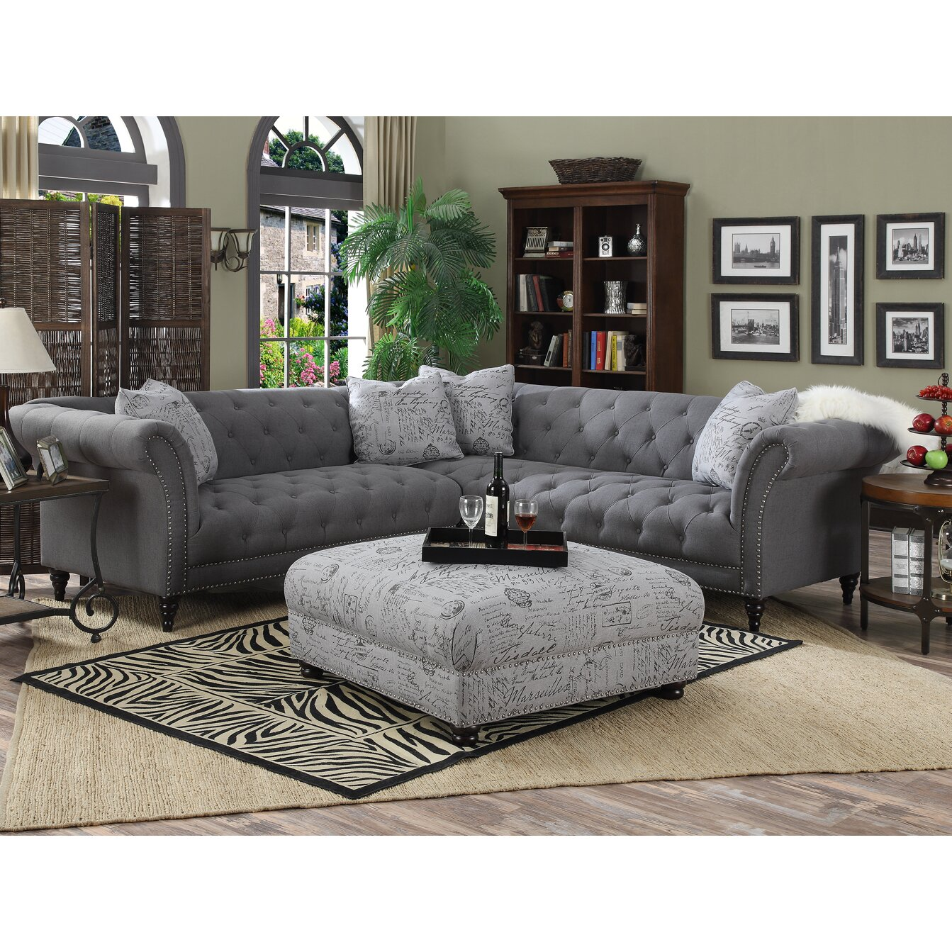 Lark Manor Awa Turenne Sectional Reviews Wayfair
