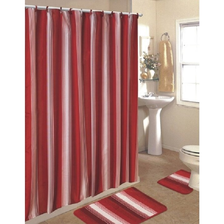 daniels bath 15 piece shower curtain set wayfair