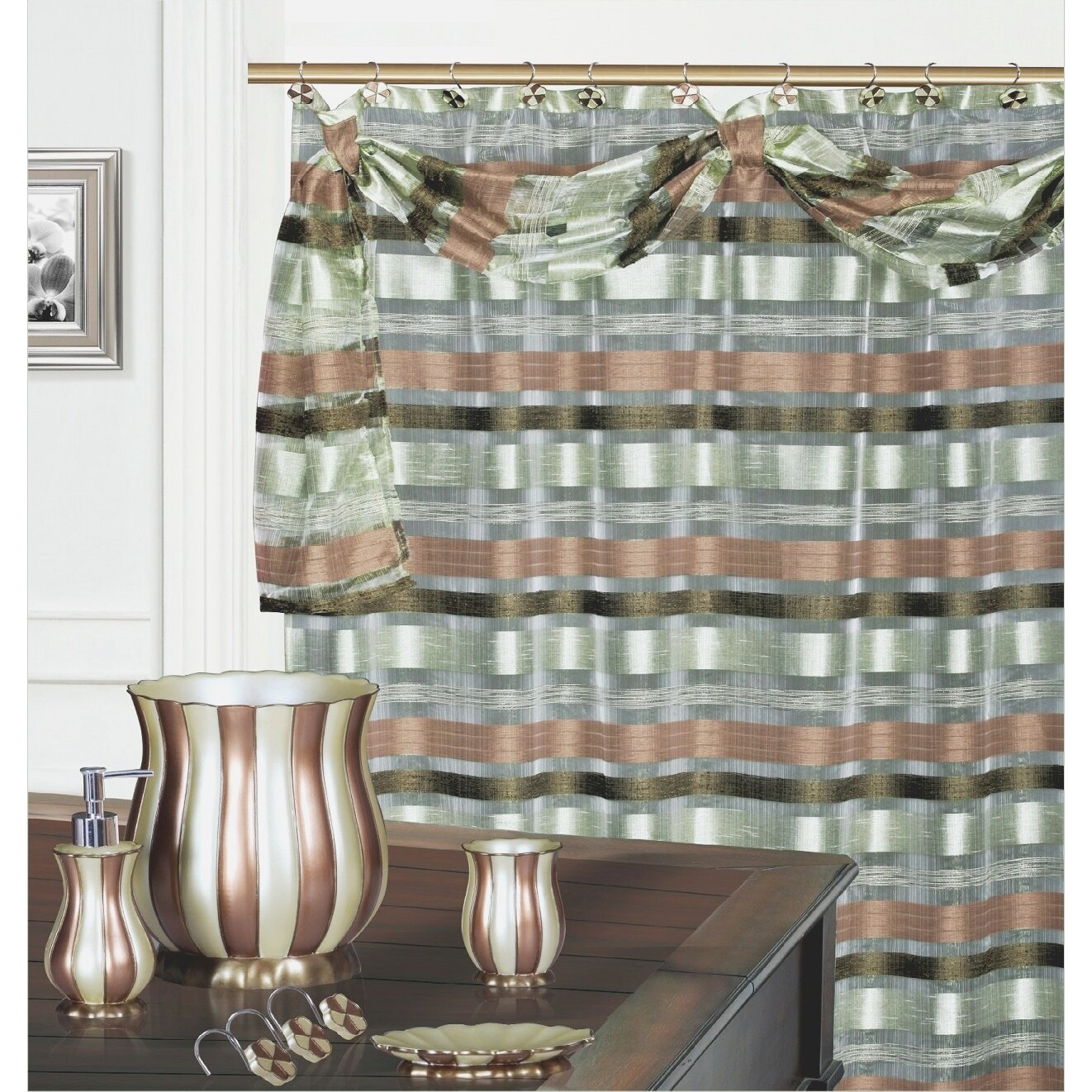 Daniels Bath Elisa Decorative Shower Curtain Wayfair
