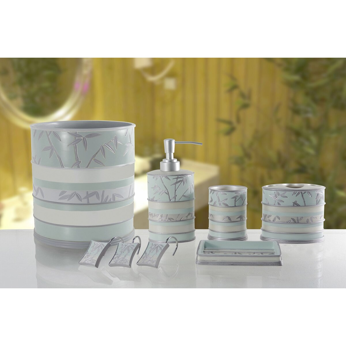 Daniels bath venezia 5 piece bathroom accessory set for Bathroom 5 piece set