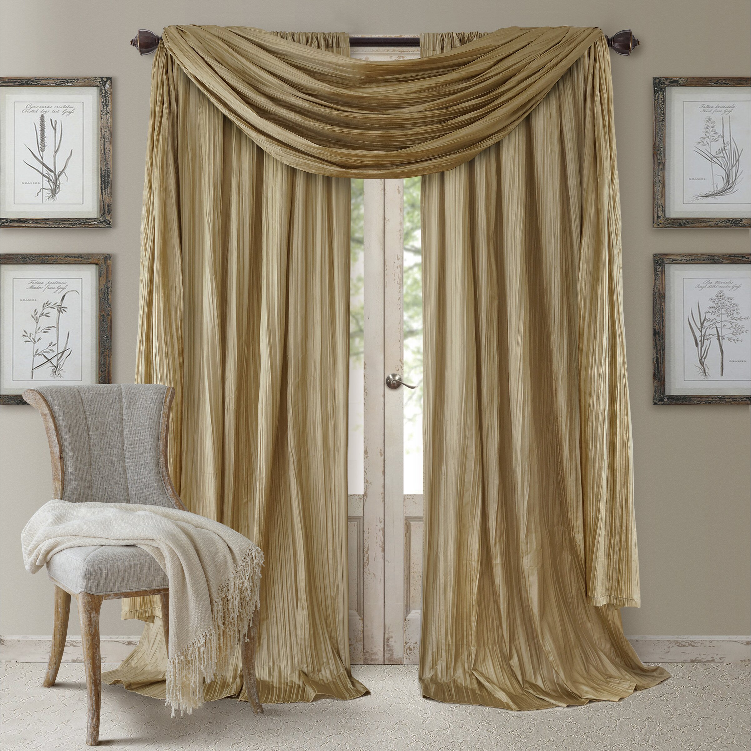 what color for bedroom elrene home fashions athena curtain set amp reviews wayfair 17797