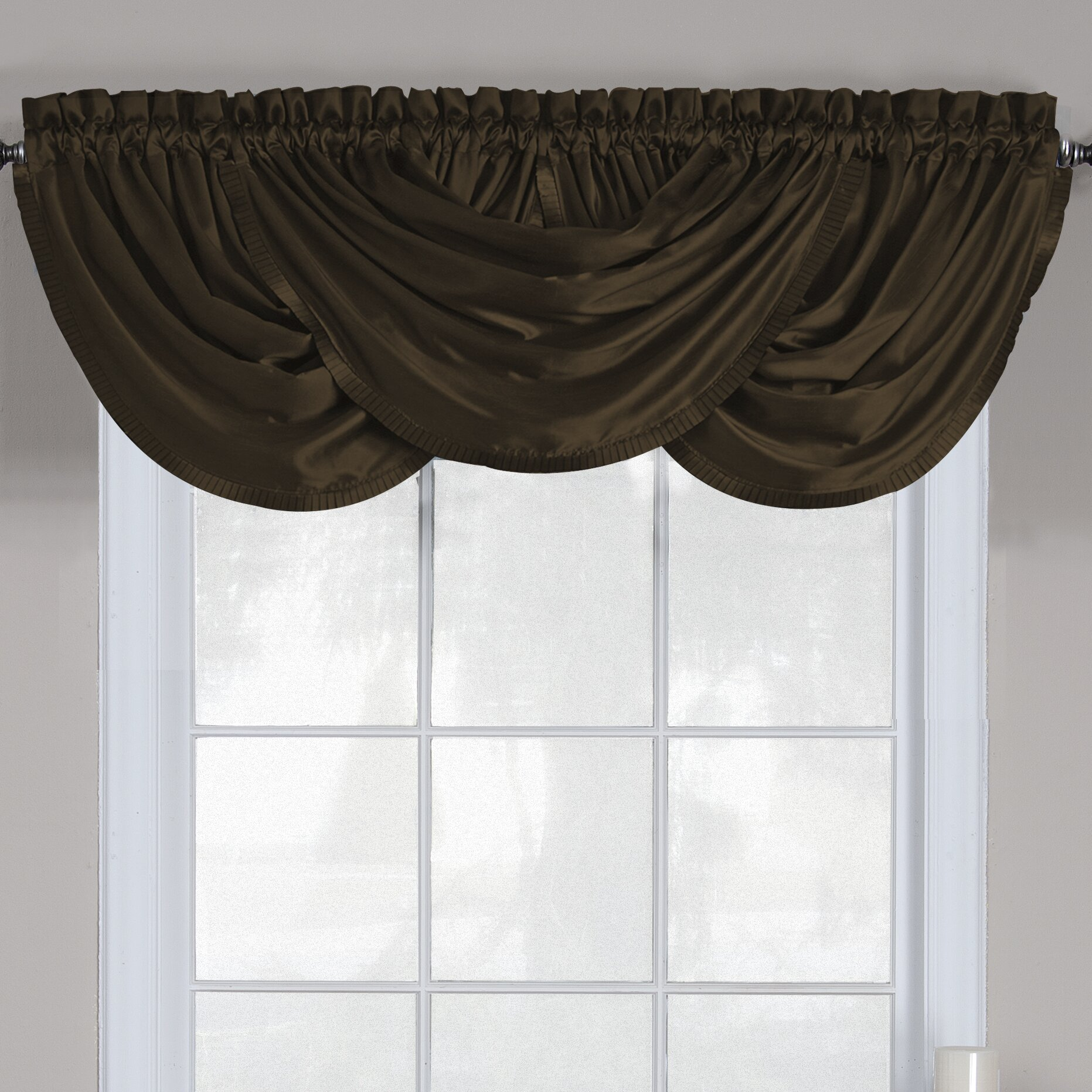 elrene home fashions versailles 52 waterfall curtain valance reviews wayfair