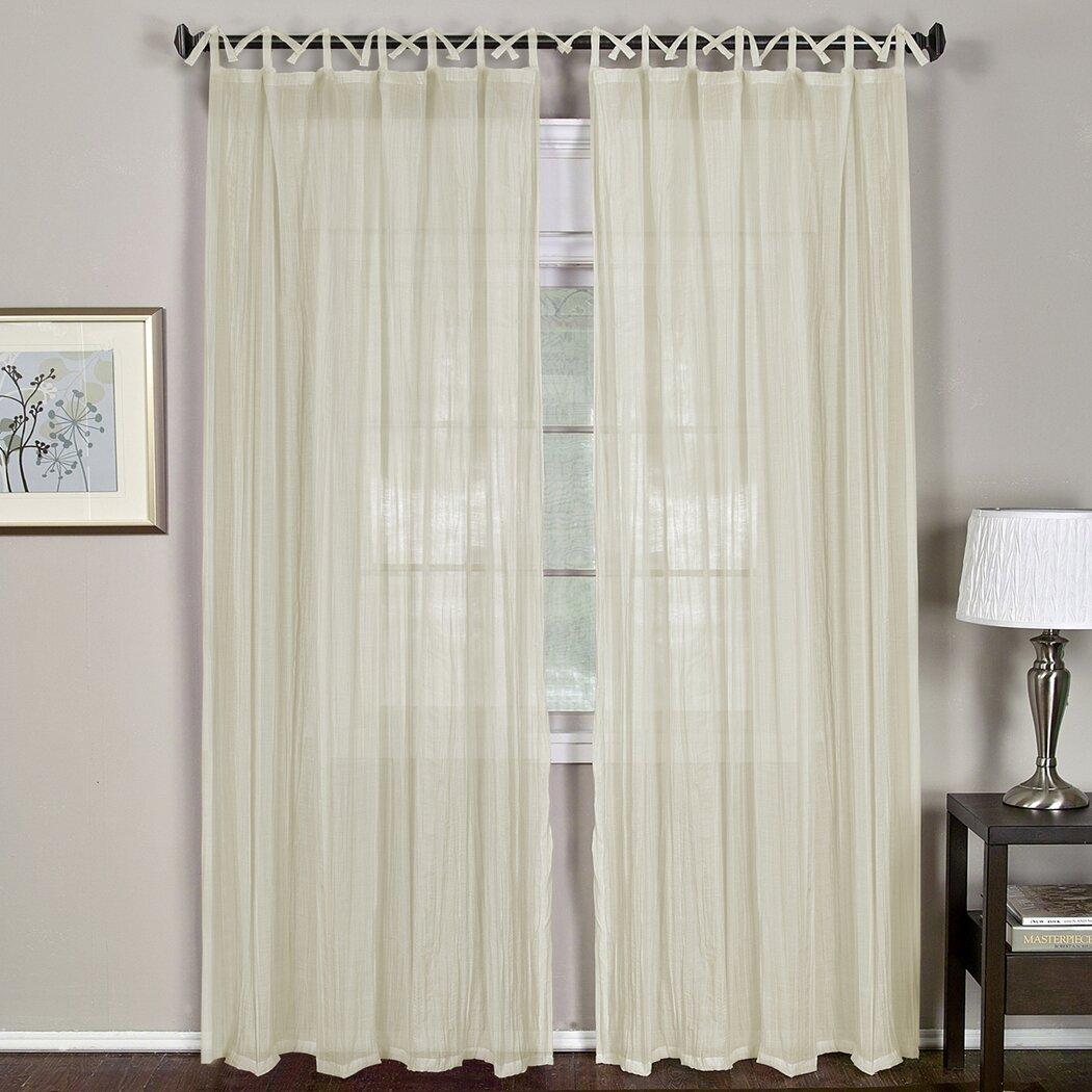 elrene home fashions greta single curtain panel reviews wayfair