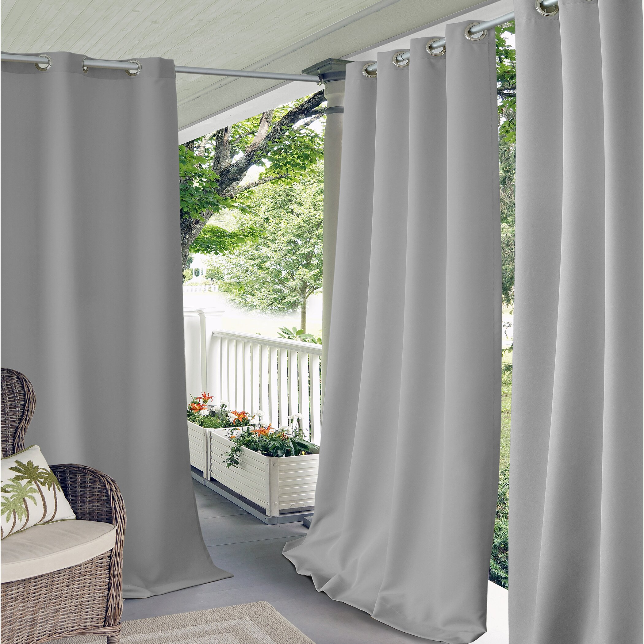 Elrene Home Fashions Connor Indoor Outdoor Curtain Panel