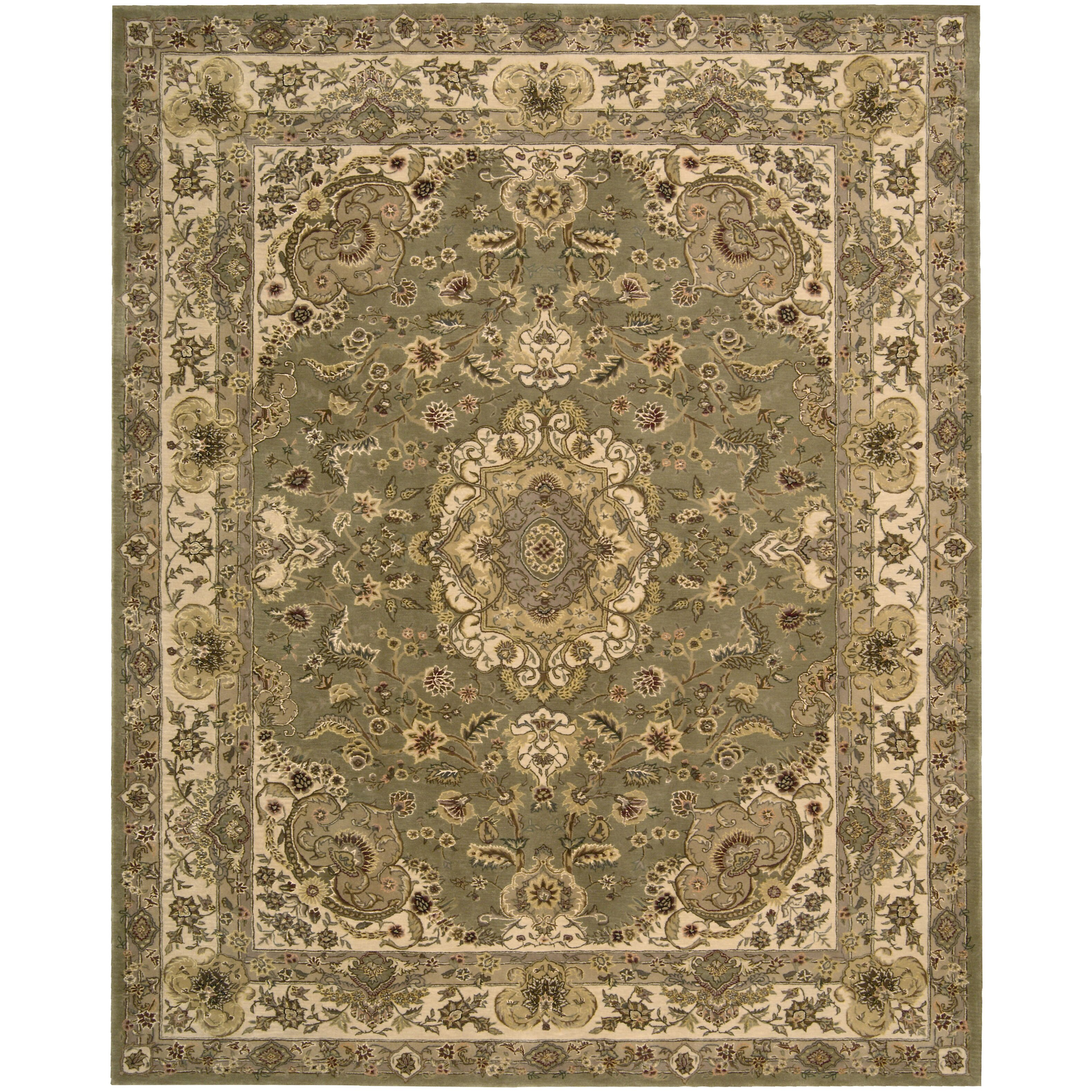 Dog Eating Wool Rug: Nourison Nourison Olive Area Rug & Reviews