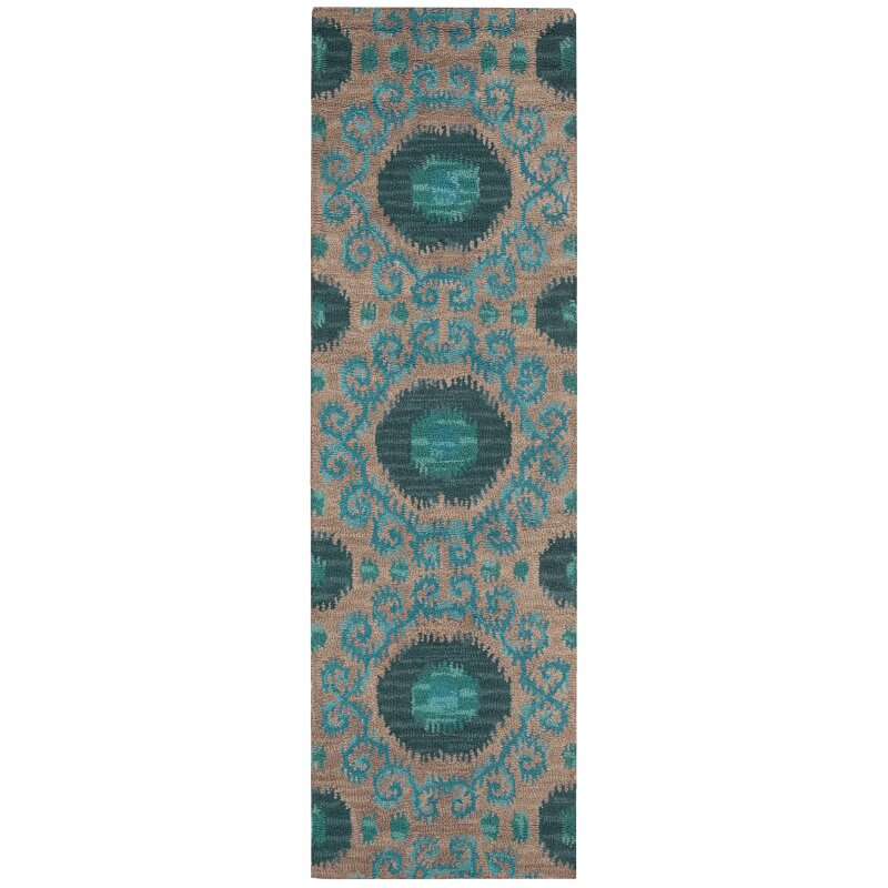 Nourison Siam Grey/Teal Rug & Reviews
