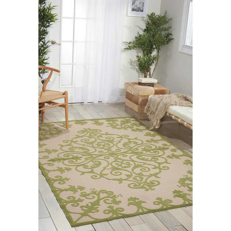 Nourison Aloha Green Indoor Outdoor Area Rug & Reviews