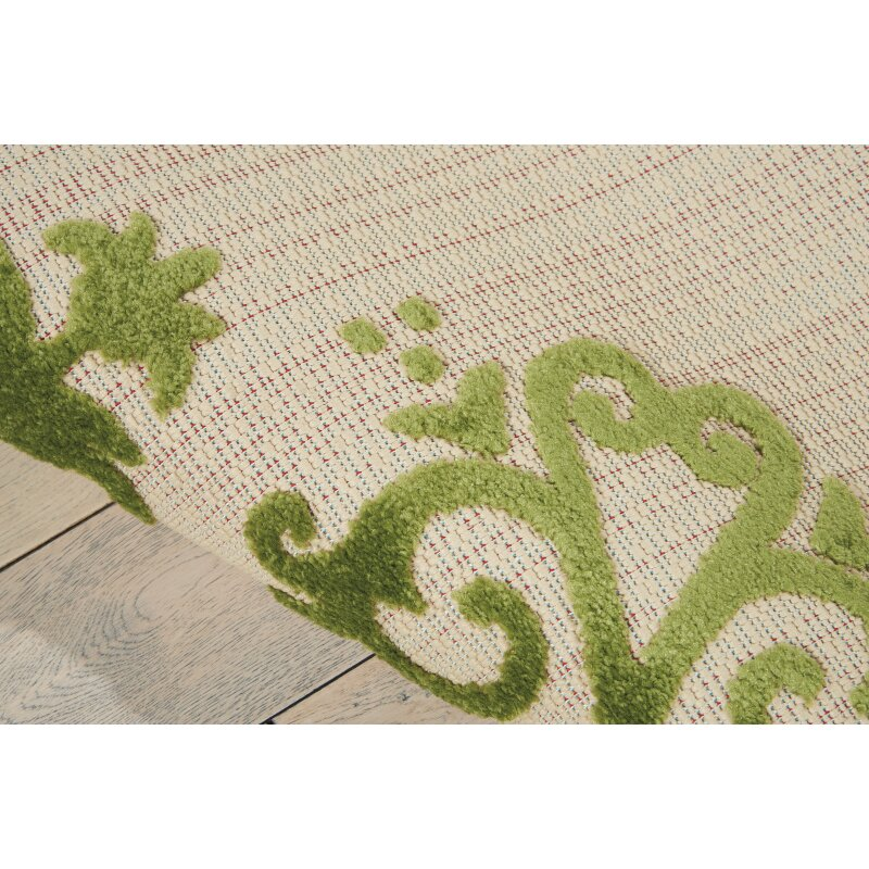 Nourison Aloha Green Indoor Outdoor Area Rug & Reviews