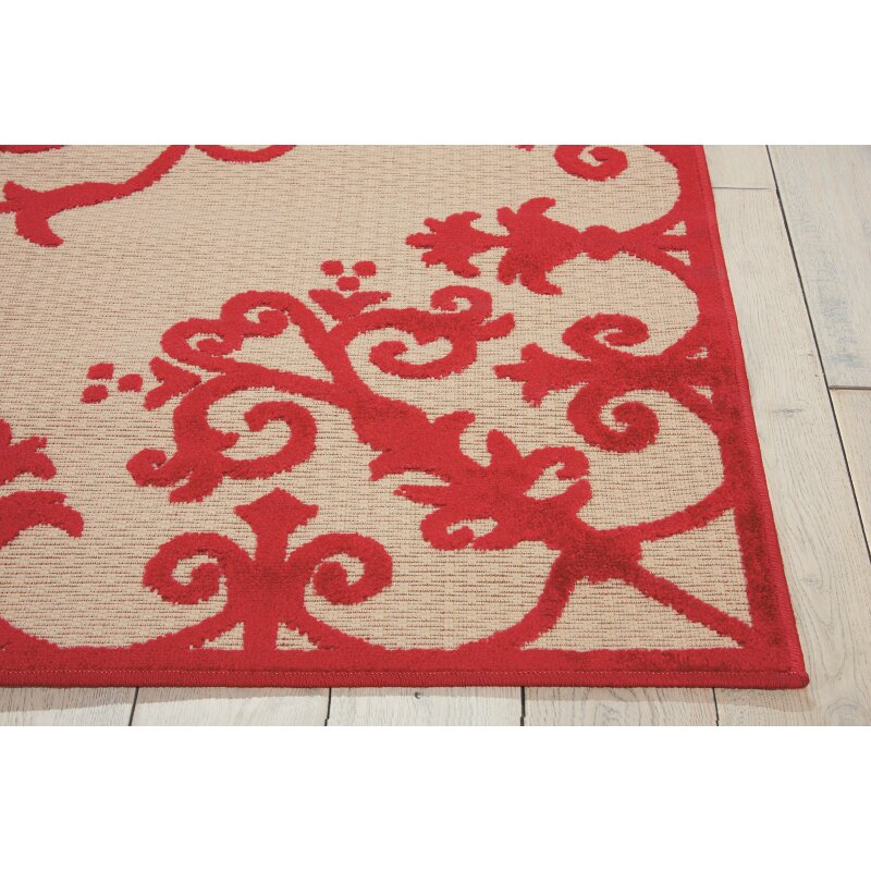 Nourison Aloha Red Indoor Outdoor Area Rug Amp Reviews Wayfair
