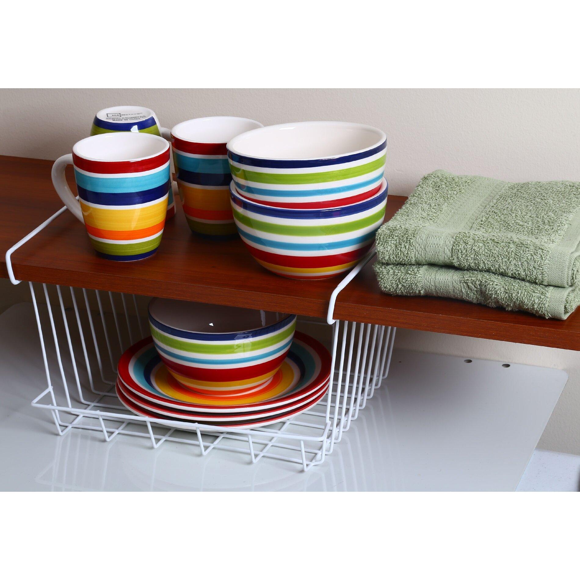 Ybm home under shelf storage organizer basket reviews for Under shelf basket wrap rack