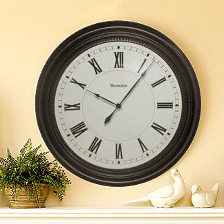 Westclox 16quot Round Roman Numeral Wall Clock amp Reviews  : 16 Round Roman Numeral Wall Clock 32223 from www.wayfair.com size 768 x 768 jpeg 121kB