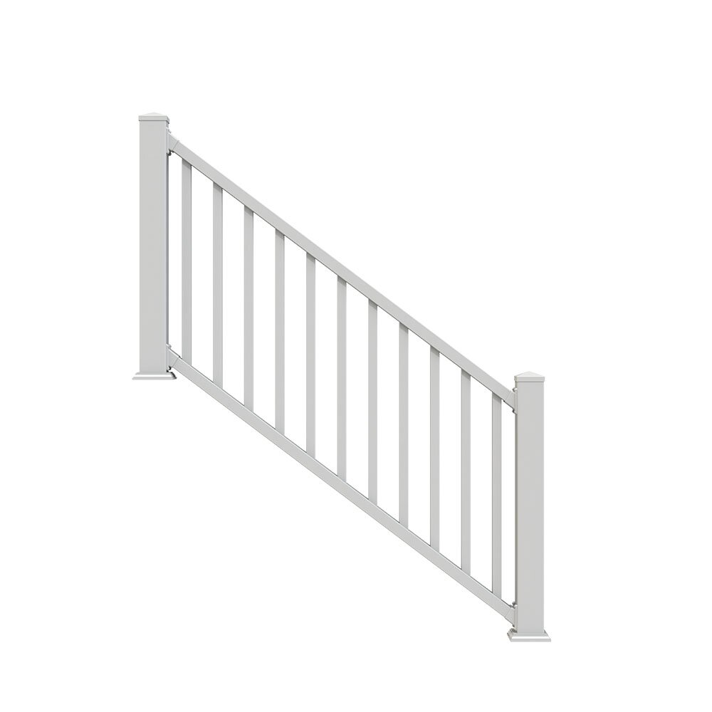Xpanse select vinyl railing stair kit reviews wayfair - Vinyl railing reviews ...