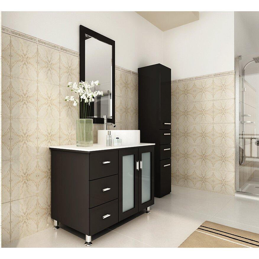 Jwh Living Lune 39 Single Vessel Modern Bathroom Vanity Set Reviews Wayfair
