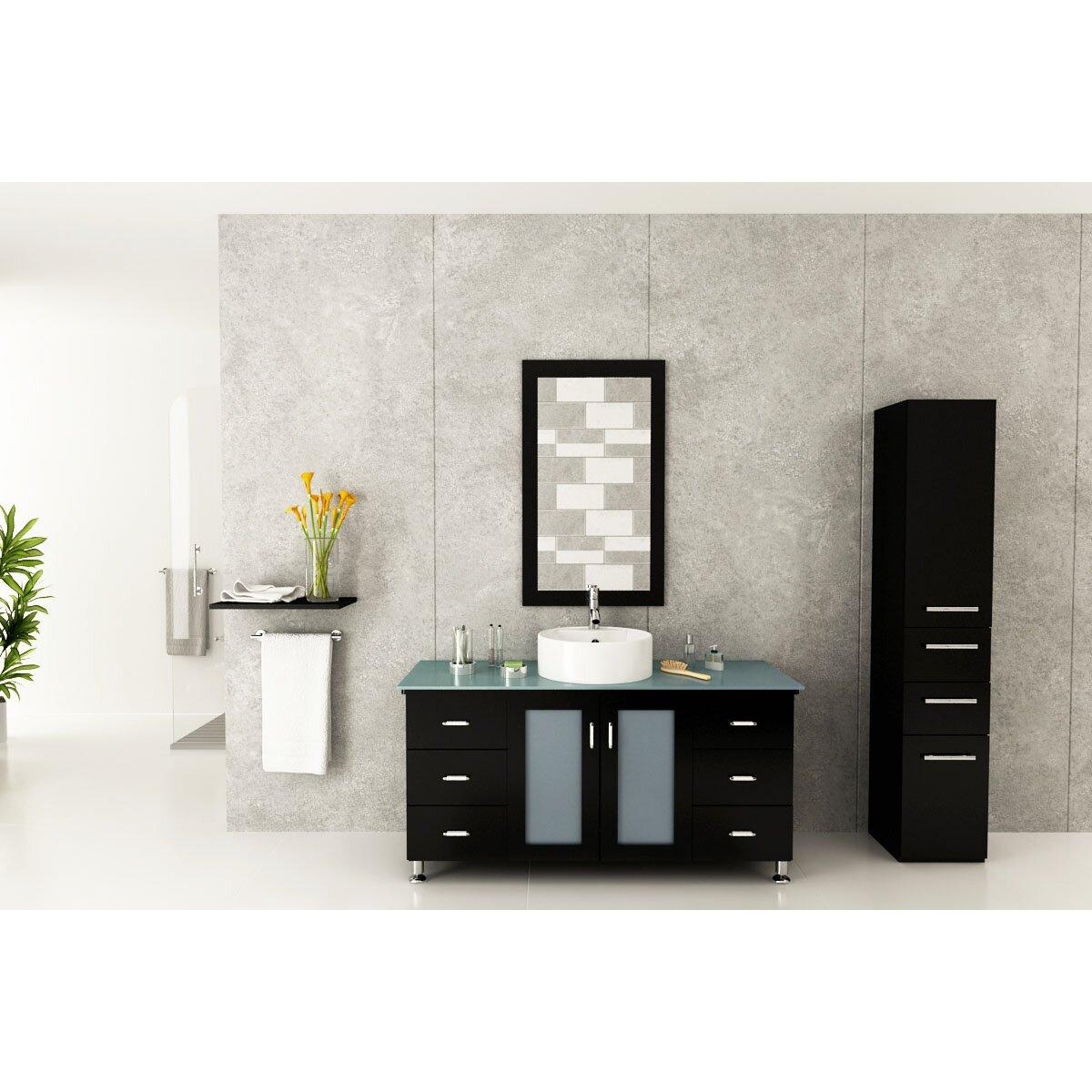 Jwh living grand lune 47 single vessel modern bathroom vanity set wayfair - Linden modern bathroom vanity set ...