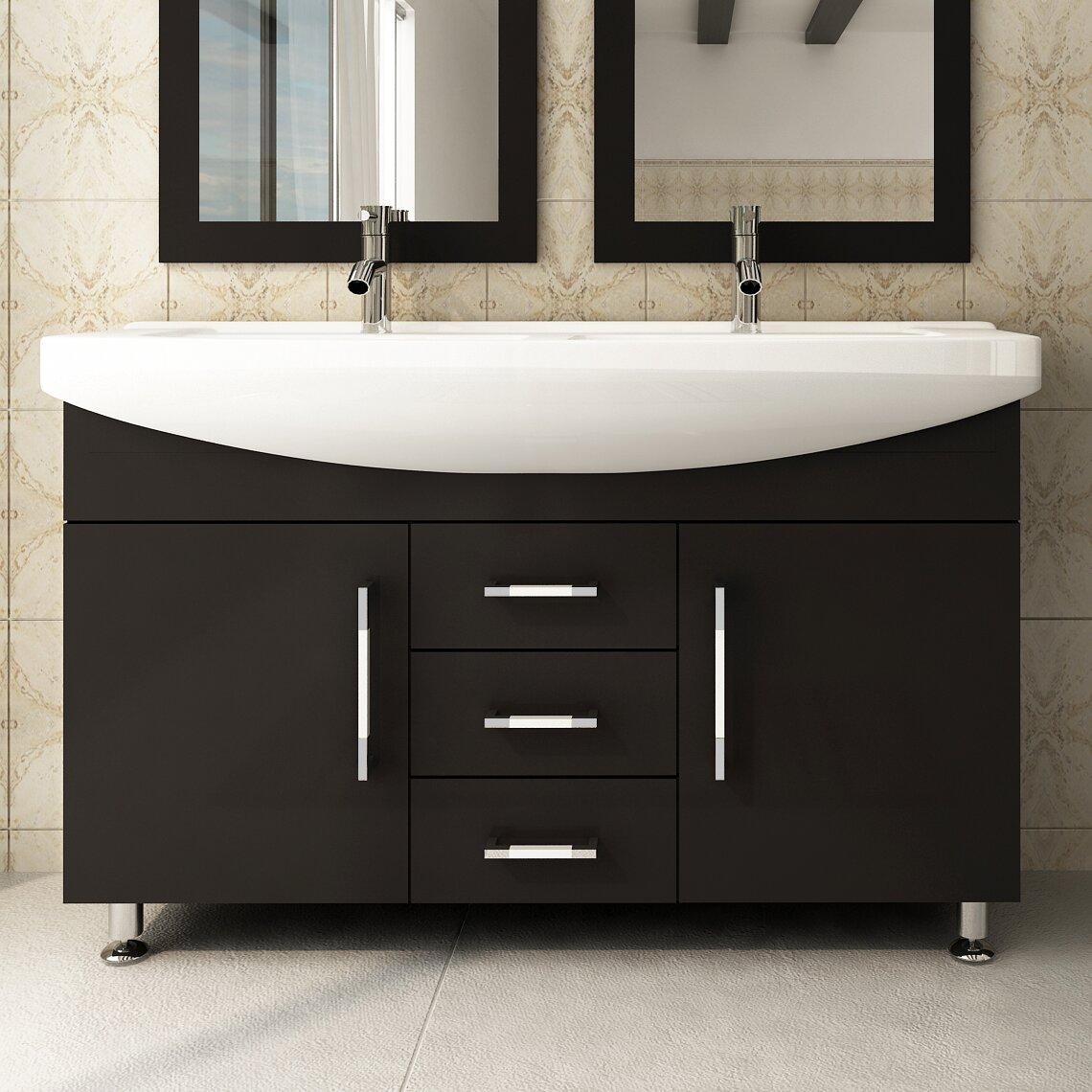 jwh living celine 48 double bathroom vanity set reviews wayfair