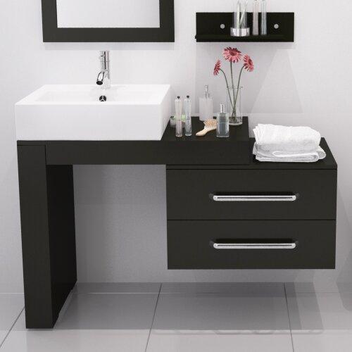 Jwh Living Scorpio 57 Single Wall Mounted Modern Bathroom Vanity Set Reviews
