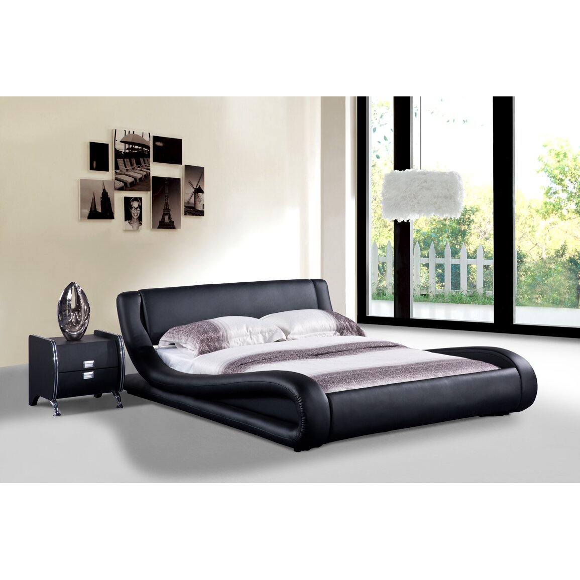 container upholstered platform bed reviews. Black Bedroom Furniture Sets. Home Design Ideas