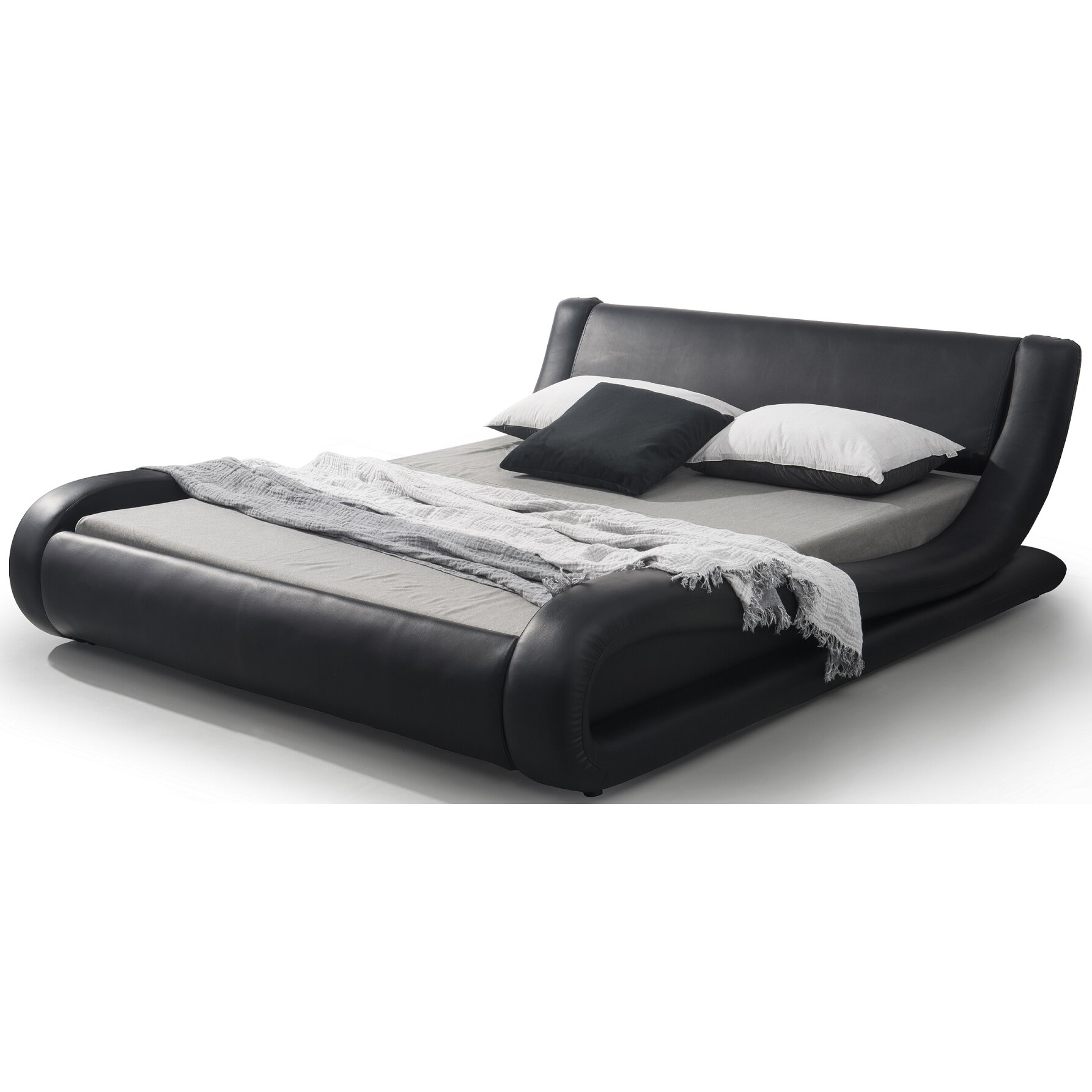 Container Upholstered Platform Bed Amp Reviews Wayfair