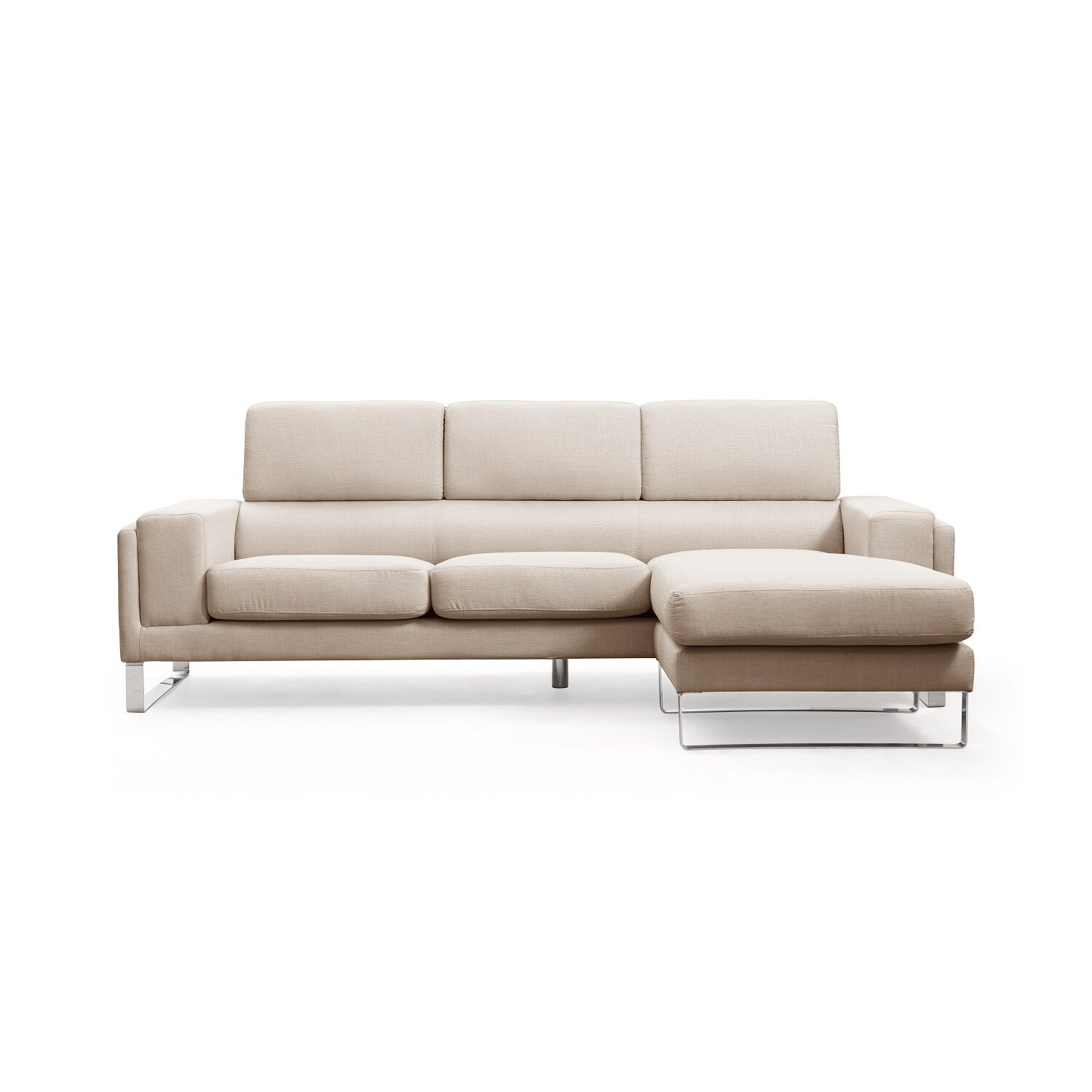 Container reversible chaise sectional wayfair for Sectional sofa reversible chaise living room furniture