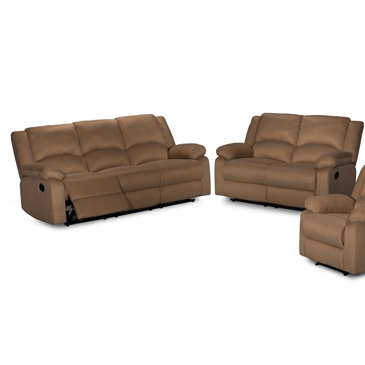Container 2 piece recliner sofa set reviews for 2 piece furniture set