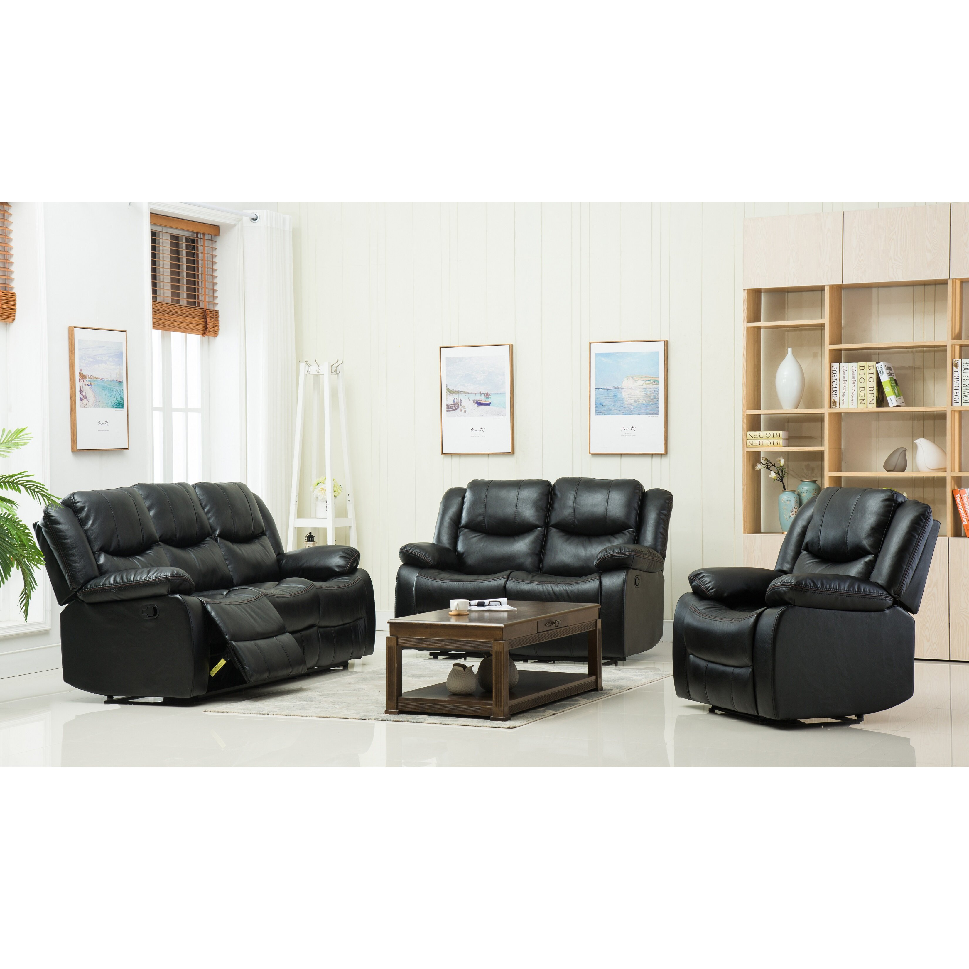 Container 3 piece living room set wayfair for 3 piece living room set