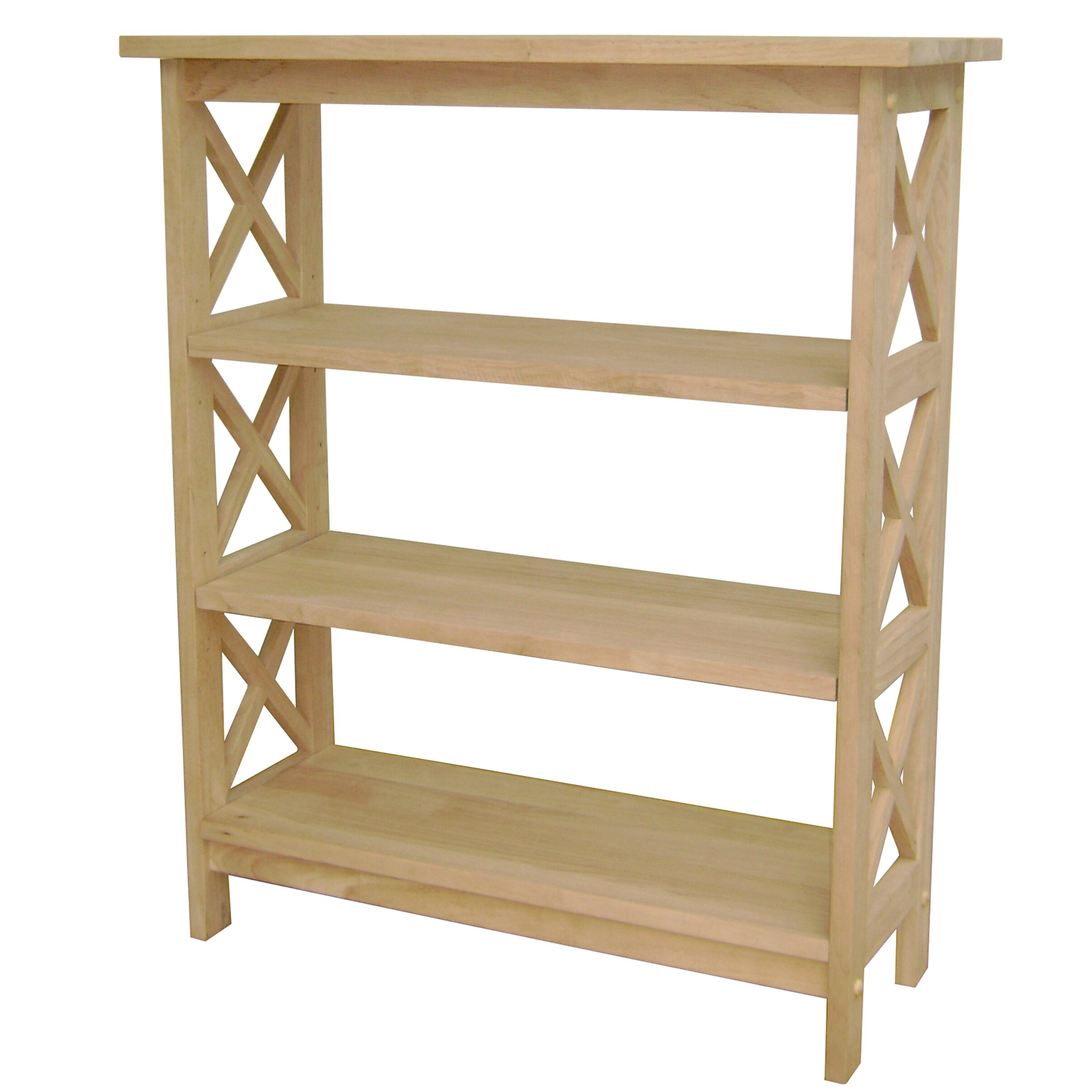 International Concepts Unfinished Wood 36 Etagere Bookcase Reviews Wayfair