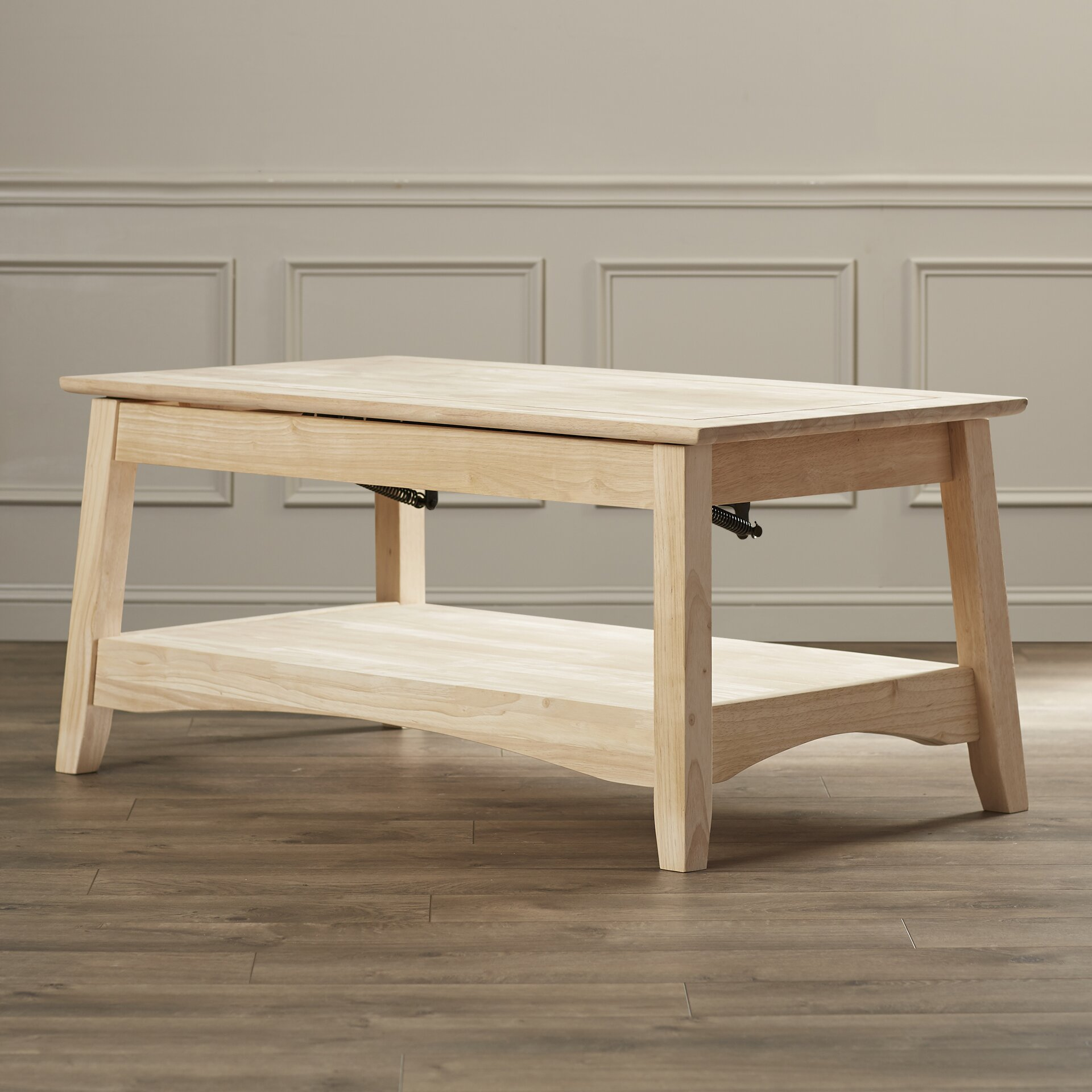 international concepts unfinished wood bombay coffee table