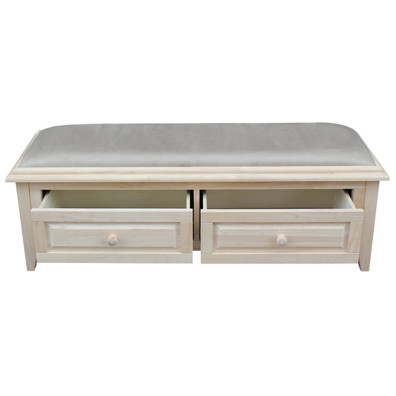 International Concepts Wood Storage Entryway Bench & Reviews  Wayfair ...
