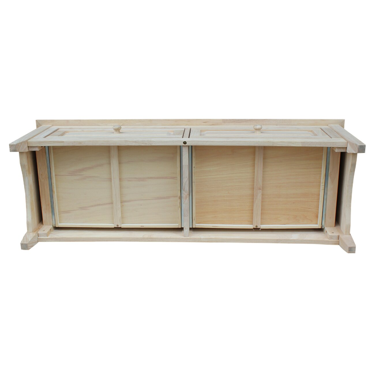 International Concepts Wood Storage Entryway Bench & Reviews  Wayfair