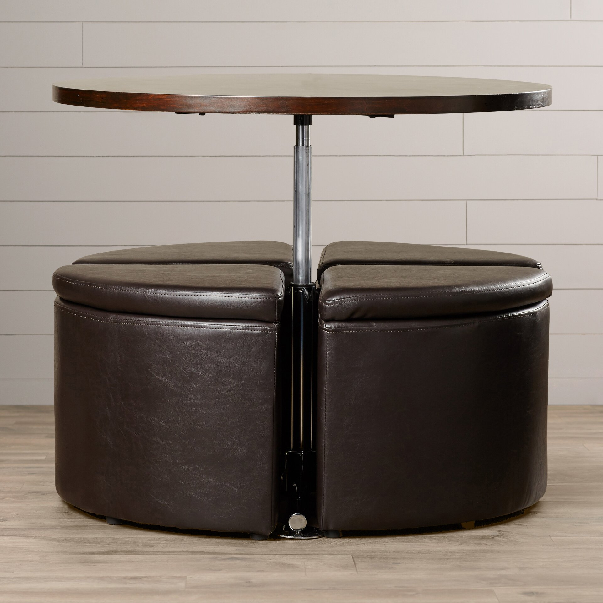 August Grove Harriet Gas Lift Coffee Table With Ottomans