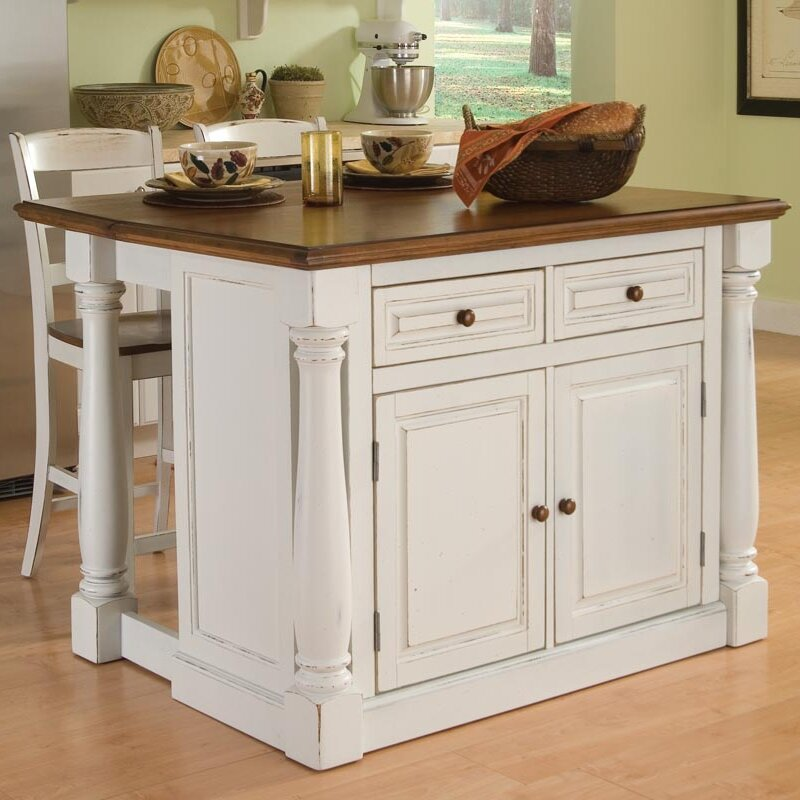 August Grove Shyanne 3 Piece Kitchen Island Set & Reviews