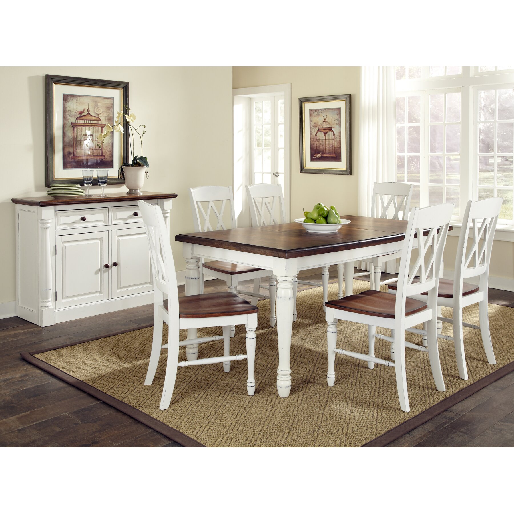 White Tables And Chairs: August Grove Shyanne 7 Piece Dining Set & Reviews