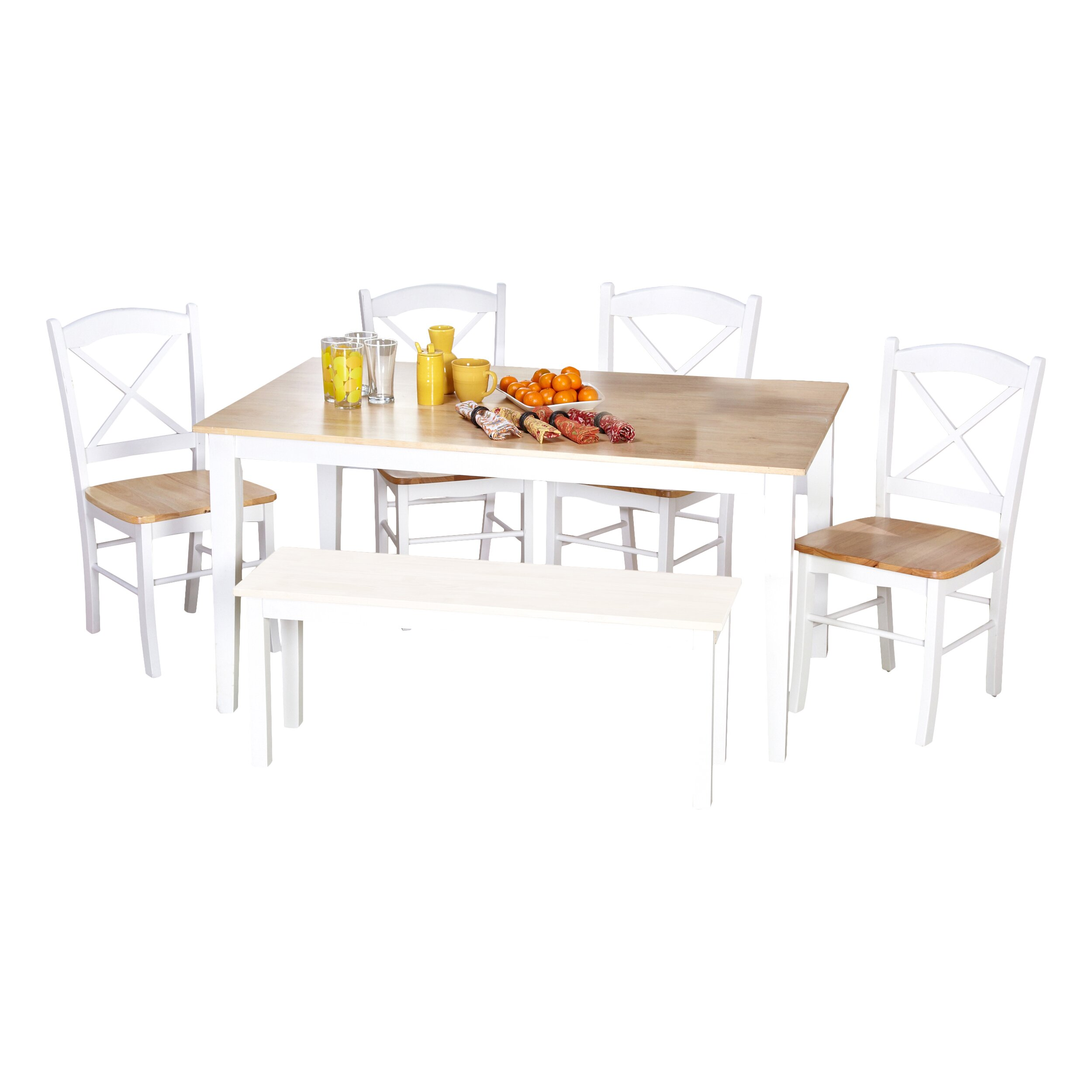 August grove wisteria 6 piece dining set reviews wayfair for Dining room sets 6 piece
