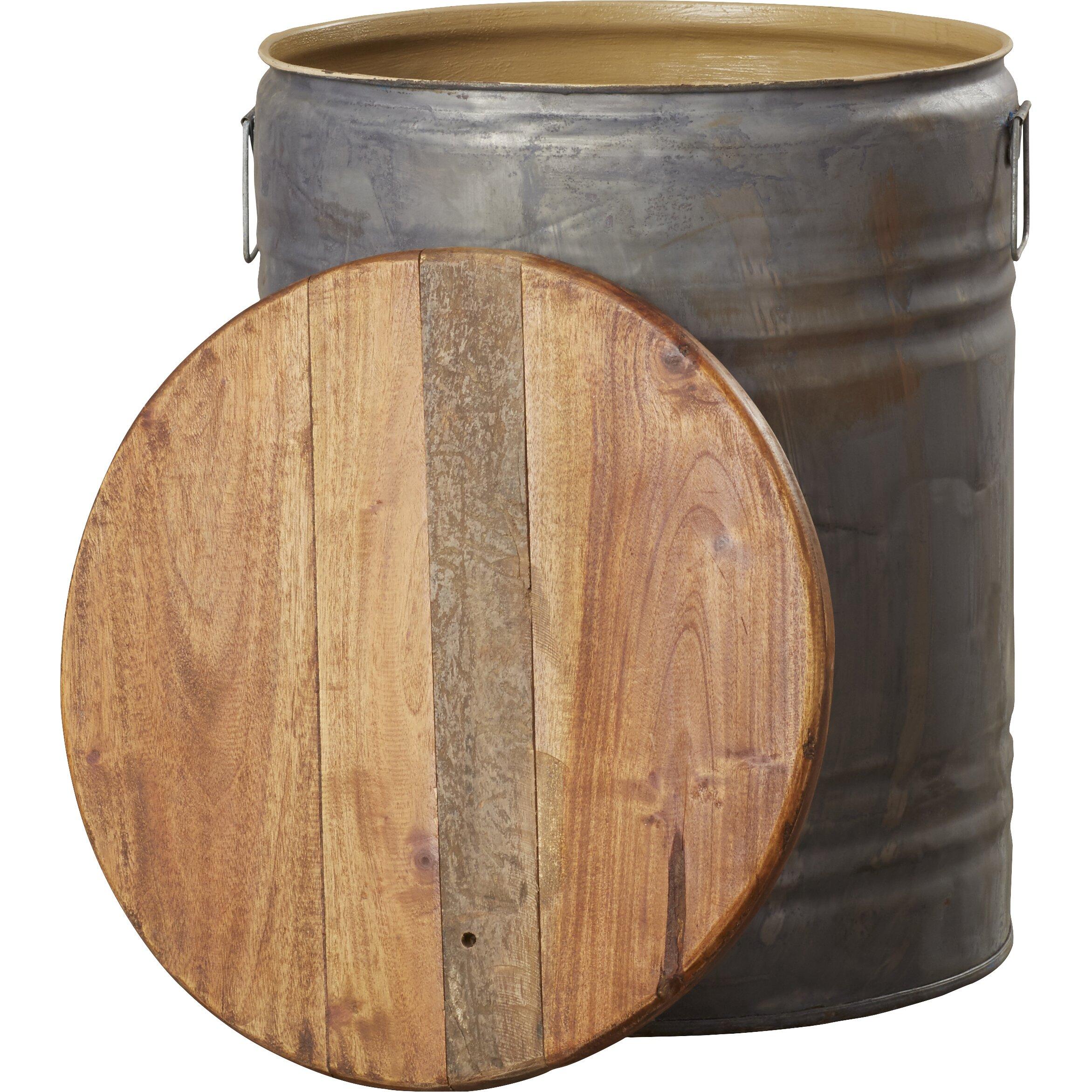 August Grove Michelle Metal Wood Drum Stool Amp Reviews