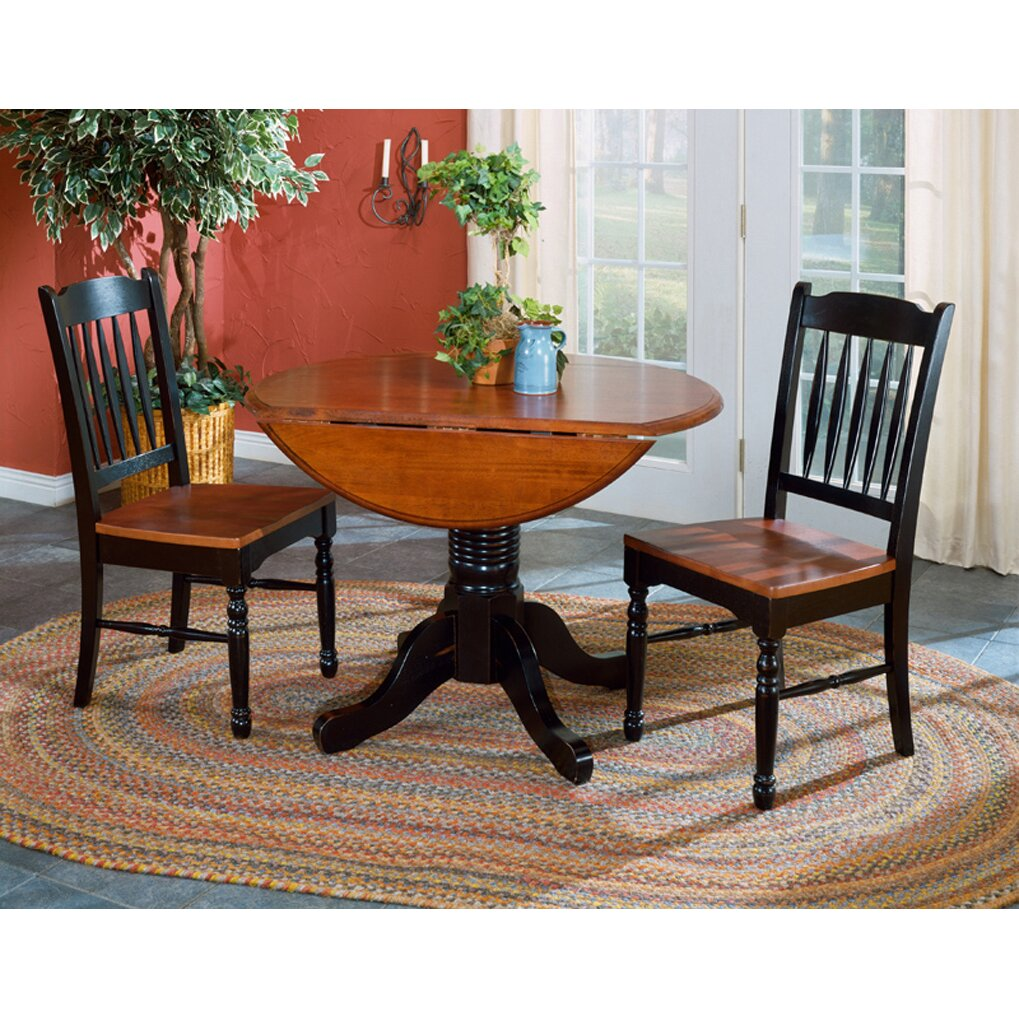 August grove buena dining table reviews wayfair for Black dining table with leaf