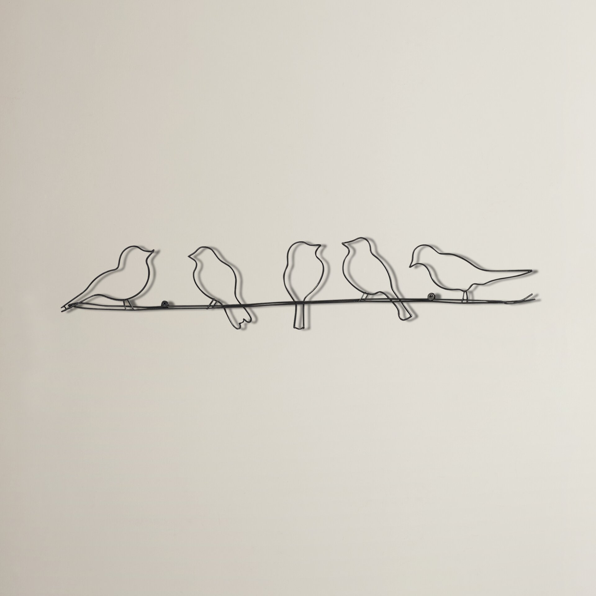 Birds Wire Wall Decor : August grove rioux birds on a wire wall d?cor reviews