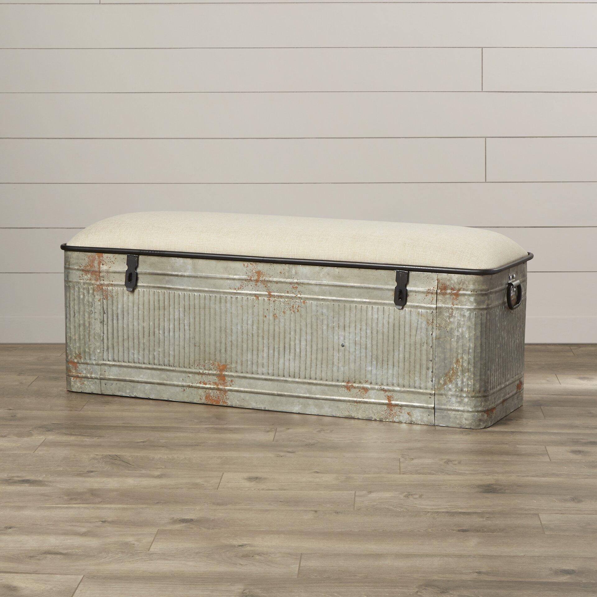 August Grove Dublin Metal Storage Bedroom Bench Amp Reviews