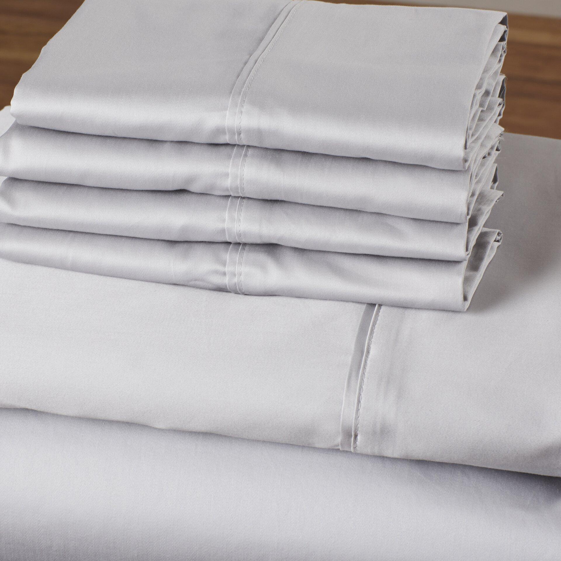 California King Bed Sheets White Deep Pocket