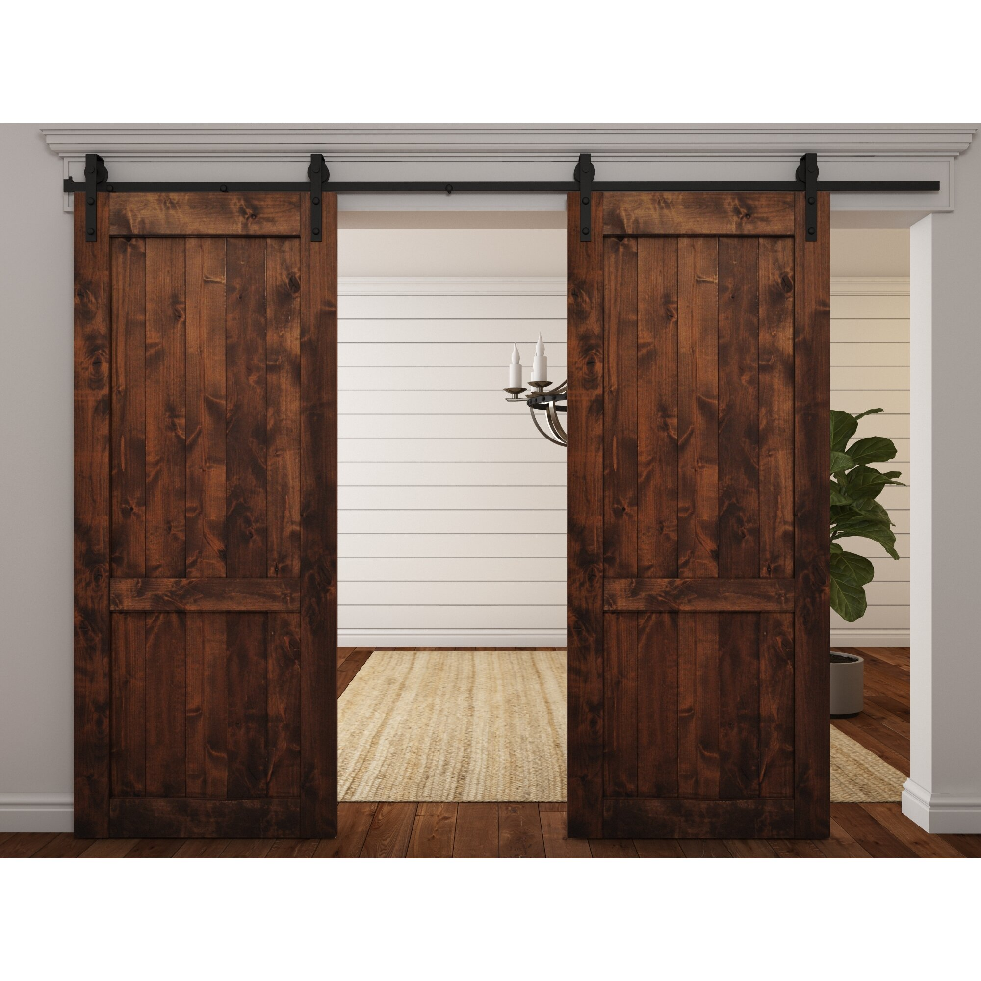 August Grove Wood 1 Panel Interior Barn Door Amp Reviews