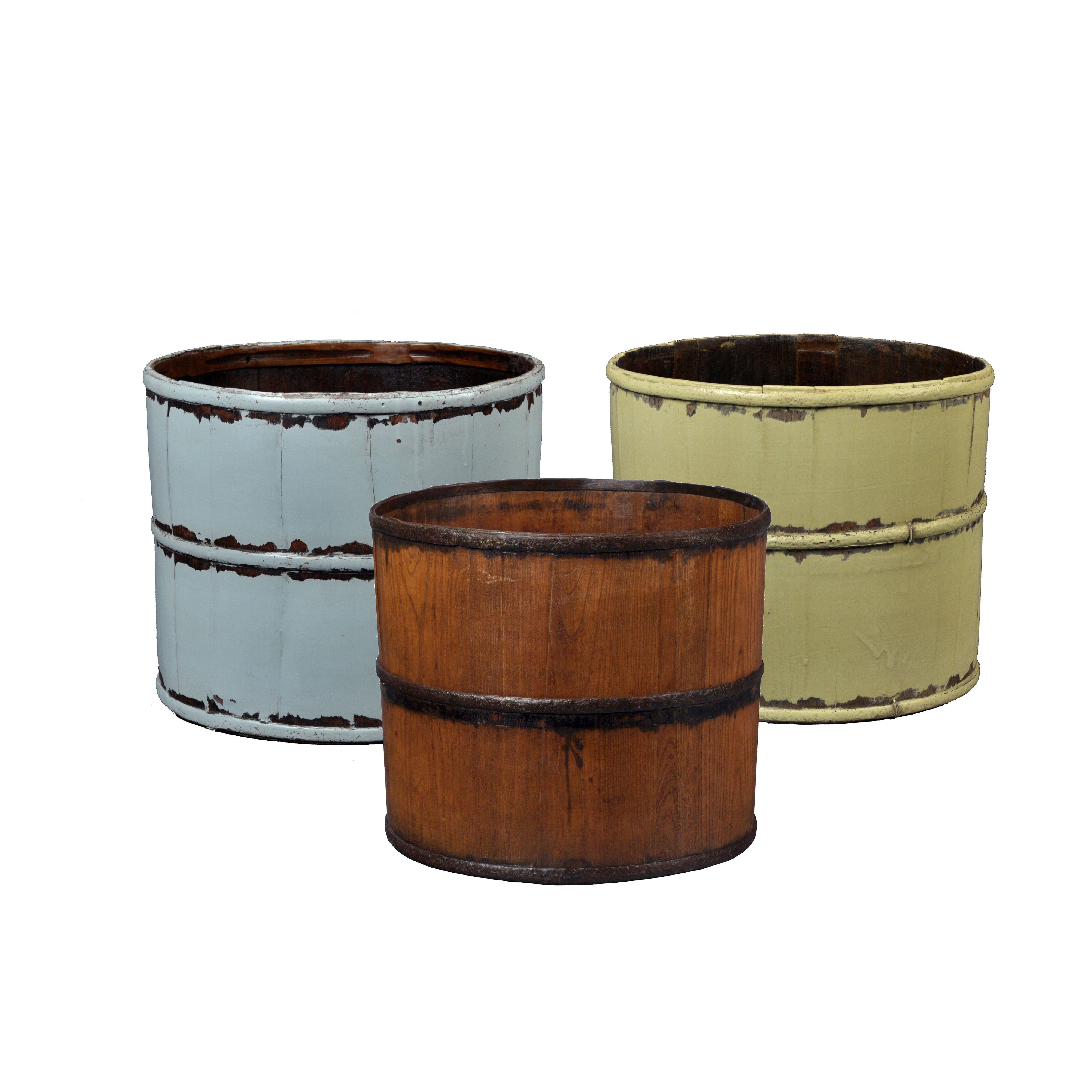 August Grove Mallette Vintage Round Tofu Bucket & Reviews | Wayfair