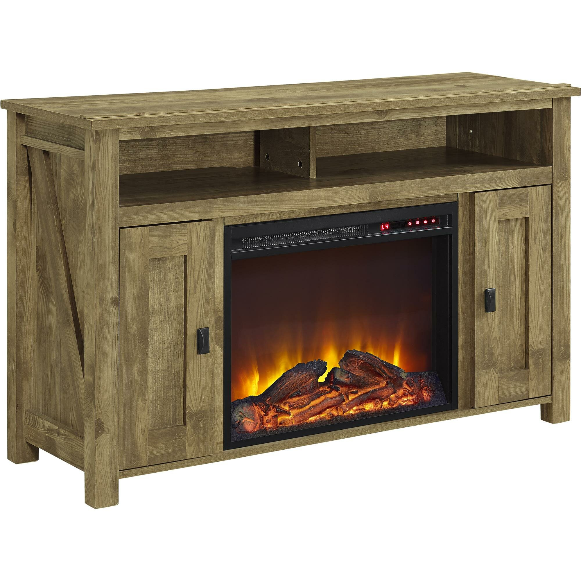 august grove gilby tv stand with electric fireplace reviews wayfair. Black Bedroom Furniture Sets. Home Design Ideas