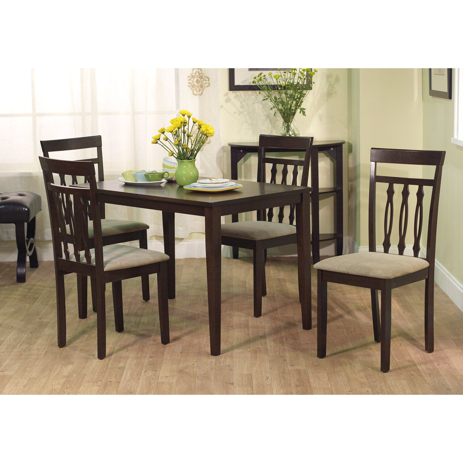 August grove vivien 5 piece dining set reviews wayfair for 5 piece dining room sets