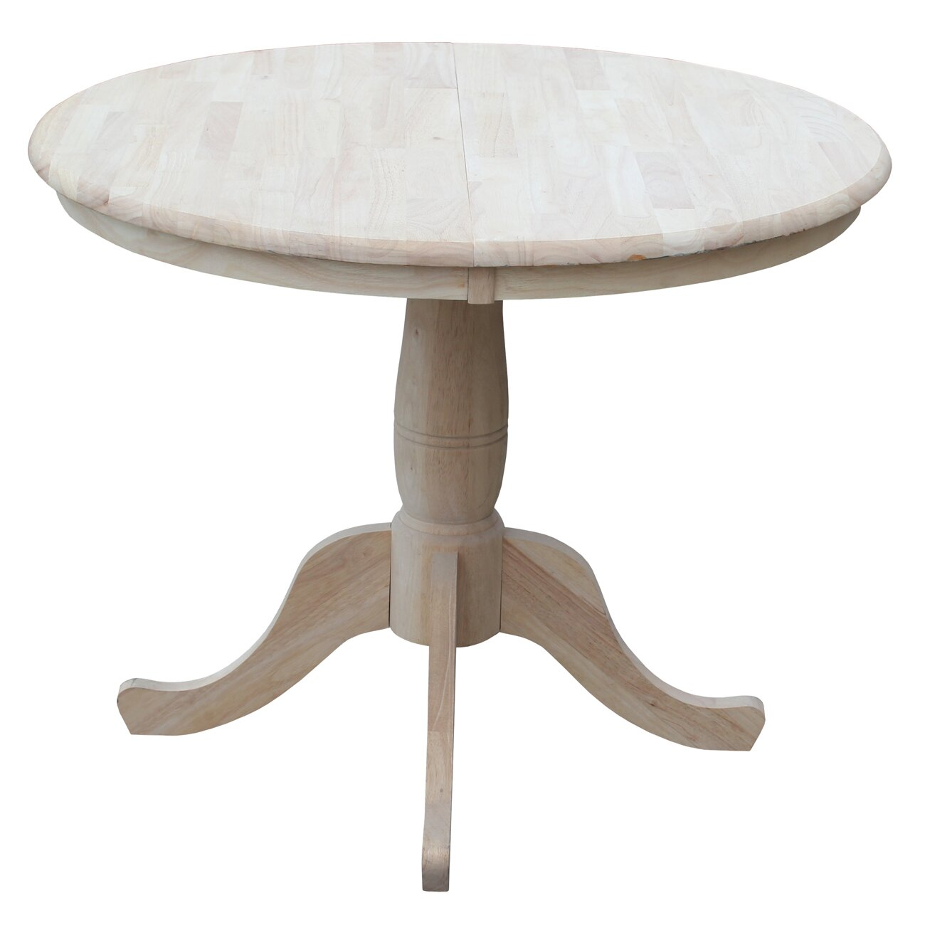 August grove 36 extendable round pedestal dining table for Table induction 90 cm