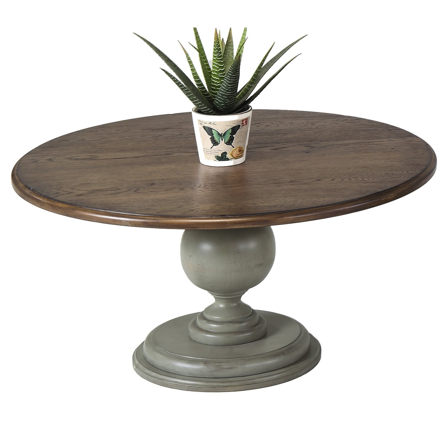 August Grove Apollinaire Round Pedestal Coffee Table Wayfair