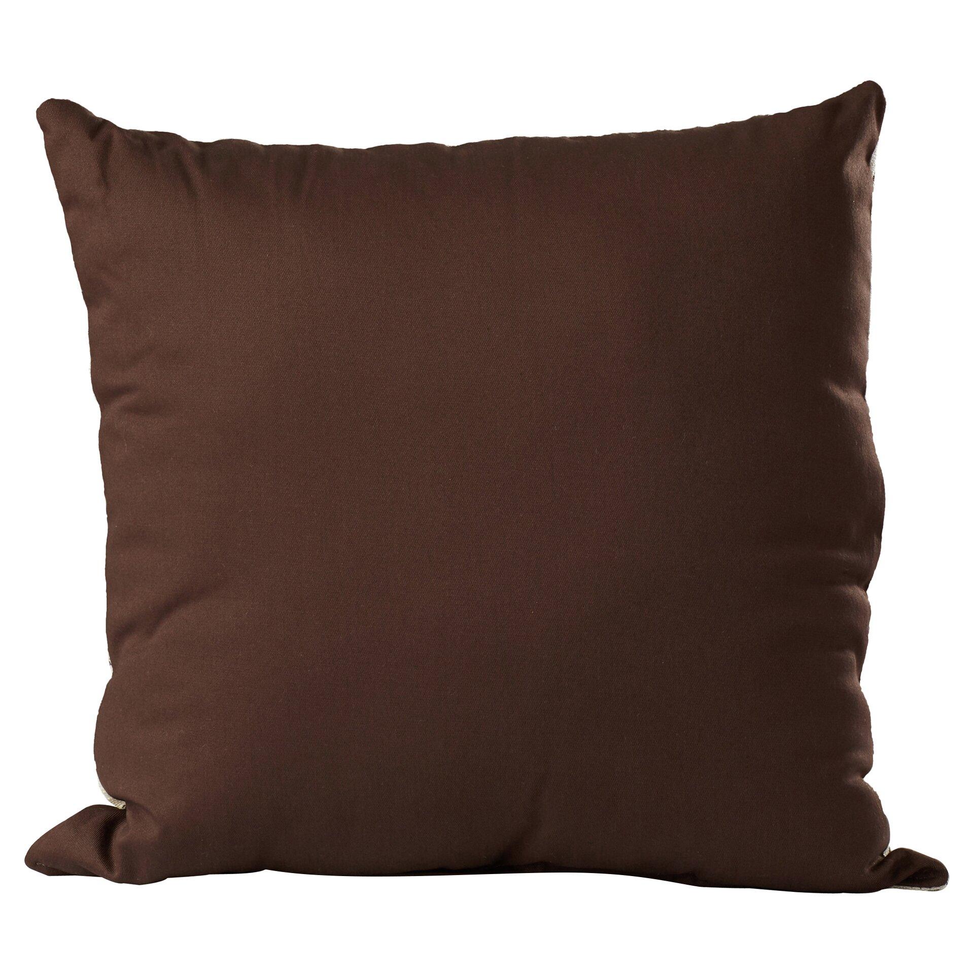 One Allium Way Melba Mocha Knife Edge Throw Pillow & Reviews Wayfair