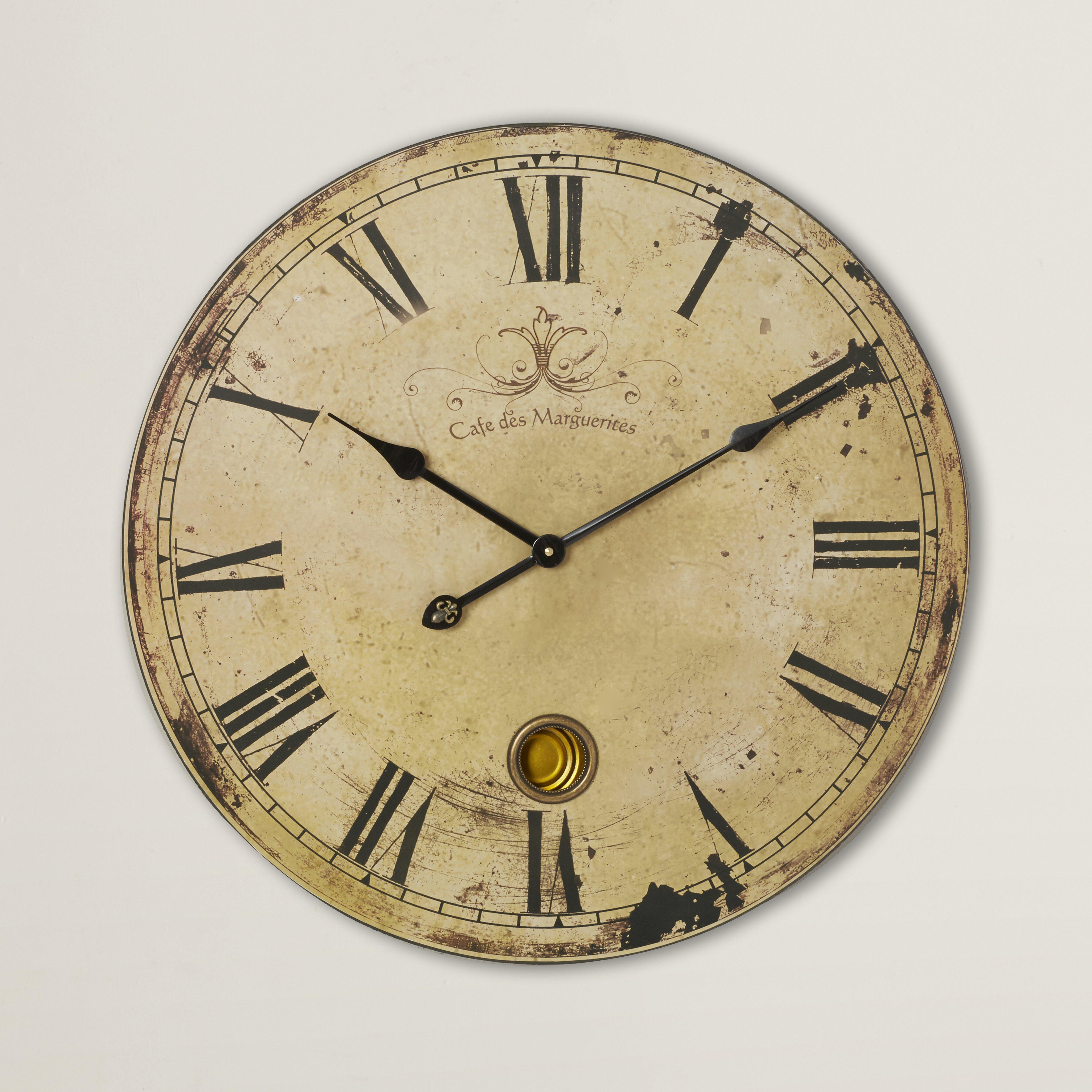 One Allium Way Oversized 23 Quot Pendulum Wall Clock Amp Reviews